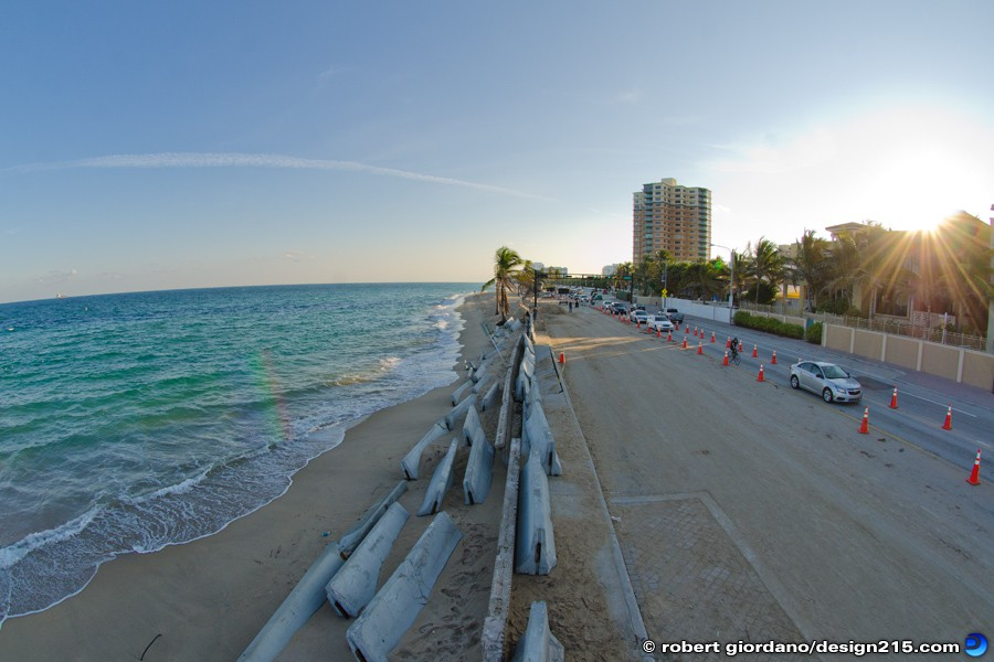 Nov 26 2012 North Beach Erosion - A1A Flooding, Fort Lauderdale