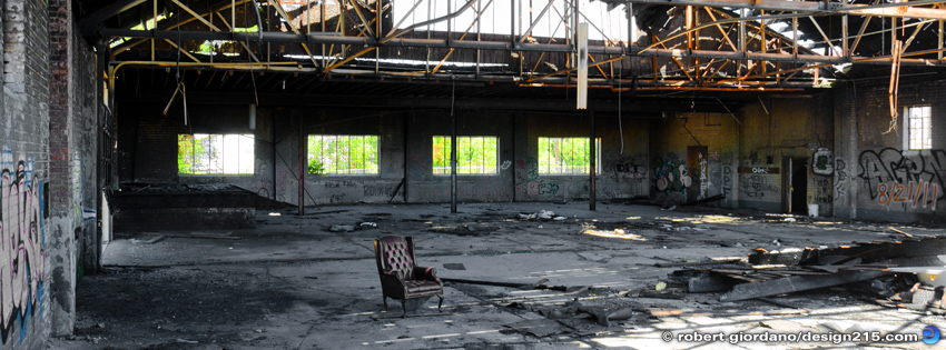 Abandoned Factory with Chair - Facebook Cover Photos