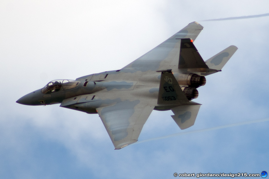 Action Photography - McDonnell Douglas F-15C, photo by Robert Giordano