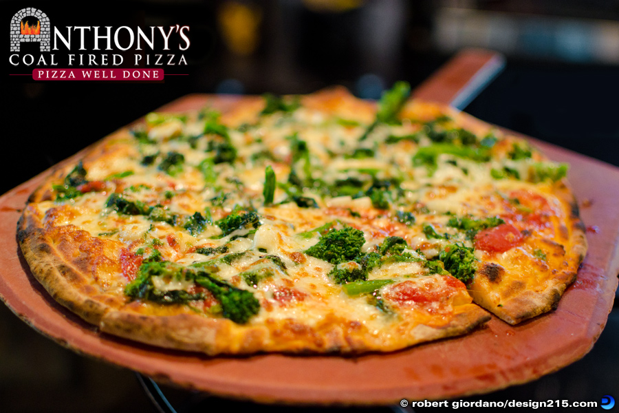 Broccoli Rabe Pizza at Anthony's - Food Photography
