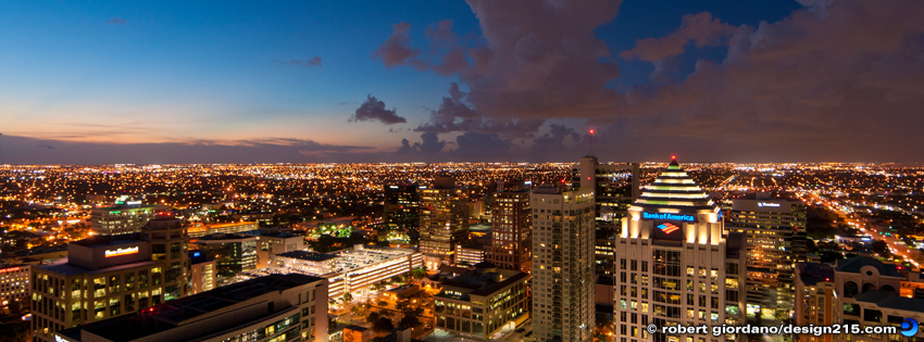 Free Facebook Cover Photos - Downtown Fort Lauderdale Sunset, photo by Robert Giordano