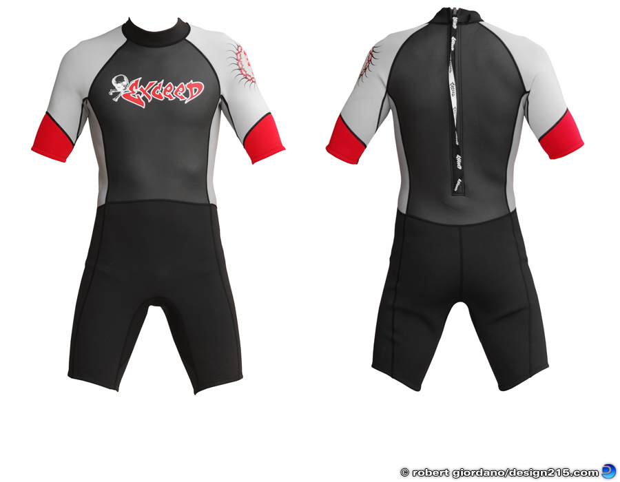 Product Photography - Exceed Epic Shorty Wetsuit, photo by Robert Giordano