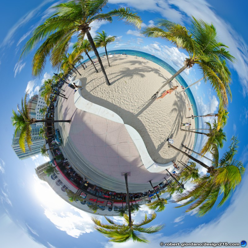 Fort Lauderdale Beach 360 Panorama - Conceptual Photography