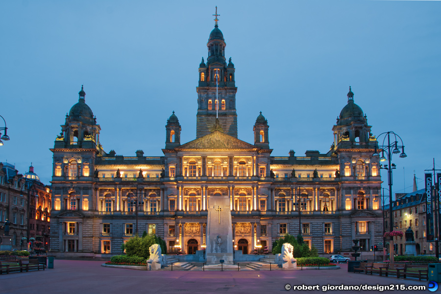 Travel Photography - Glasgow City Chambers, George Square, photo by Robert Giordano