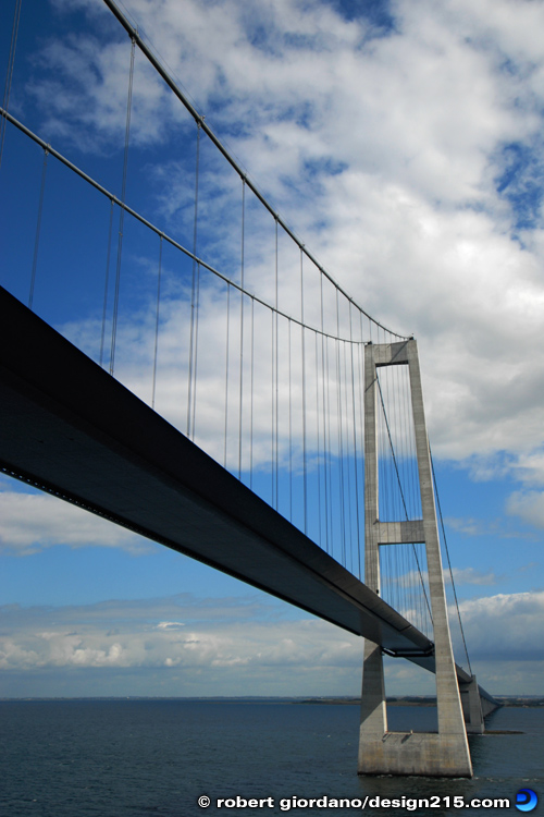 Travel Photography - Great Belt Fixed Link, East Bridge, photo by Robert Giordano