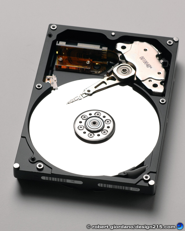 Product Photography - Hard Drive, photo by Robert Giordano
