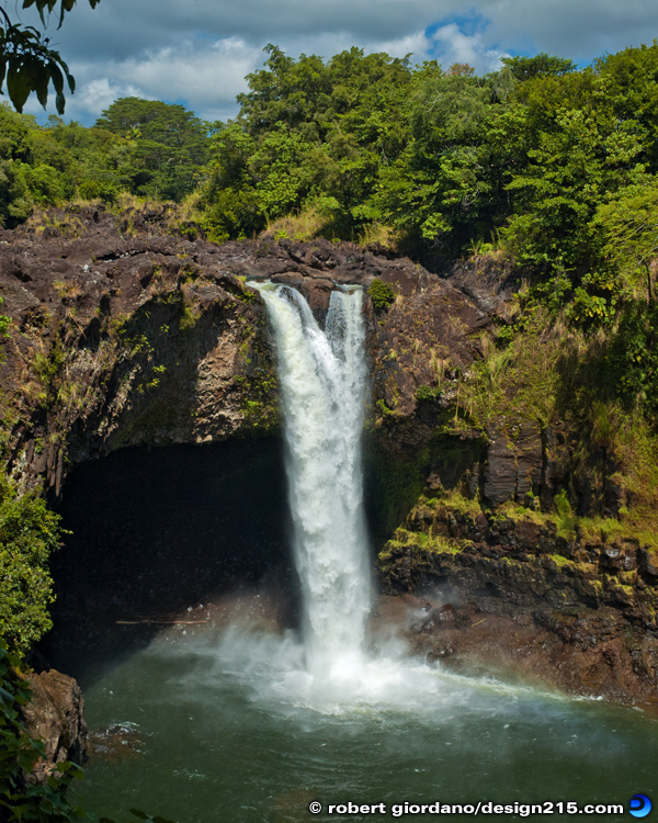 Travel Photography - Rainbow Falls, Hawaii, photo by Robert Giordano