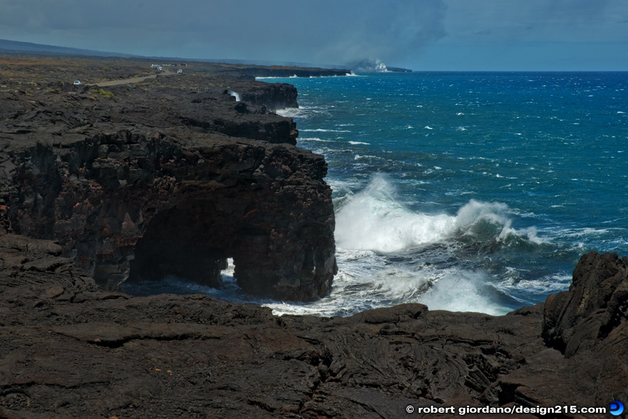 Travel Photography - Lava Cliffs at Volcanoes National Park, photo by Robert Giordano