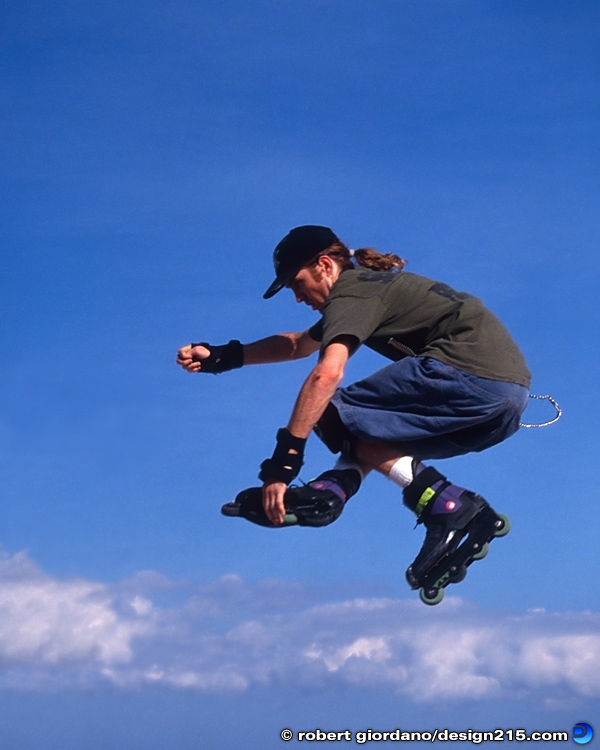 Action Photography - Inline Skater, photo by Robert Giordano