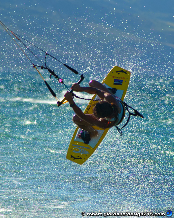 Action Photography - Kiteboarding in Hawaii, photo by Robert Giordano