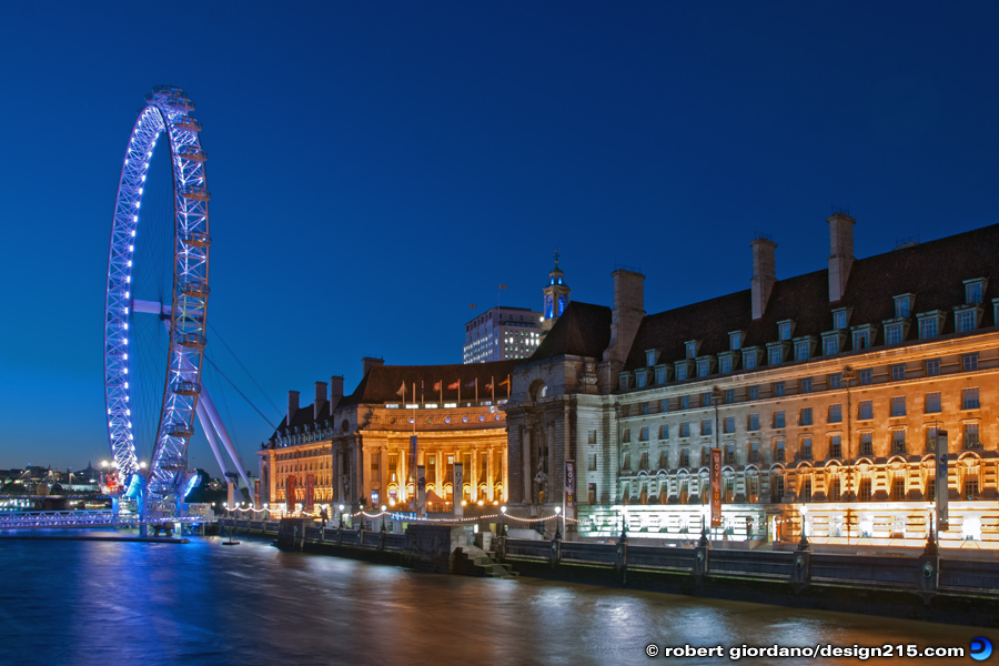 Travel Photography - London Eye and County Hall, photo by Robert Giordano