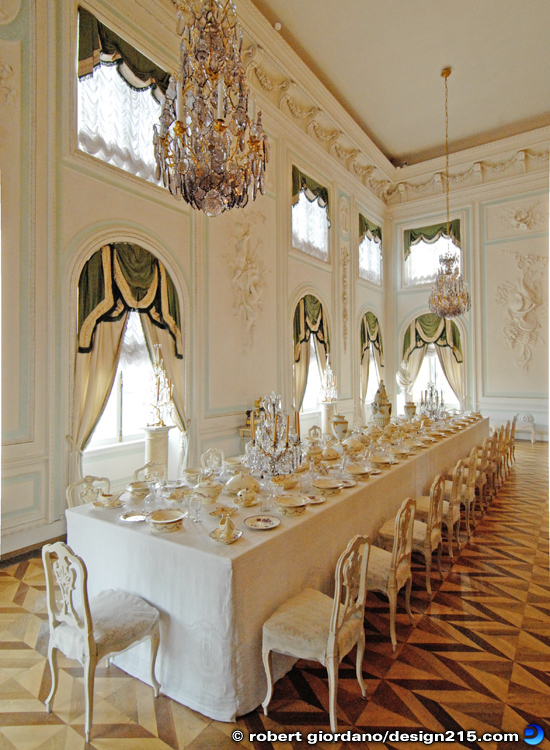 Peterhof Grand Palace, Dining Room - Travel Photography