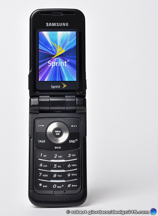 Product Photography - Samsung SPH-A900 Phone, photo by Robert Giordano
