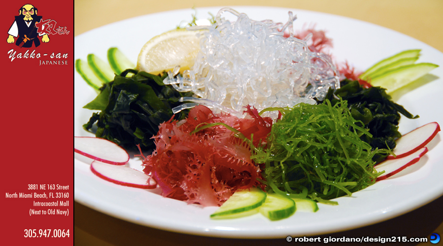 Food Photography - Yakko-San Seaweed Salad, photo by Robert Giordano