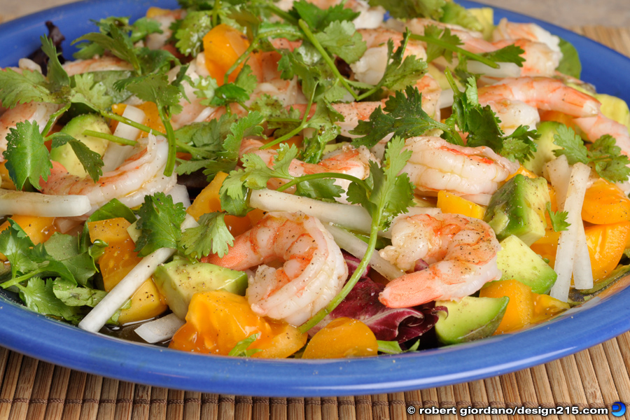 Food Photography - Fresh Shrimp Salad, photo by Robert Giordano