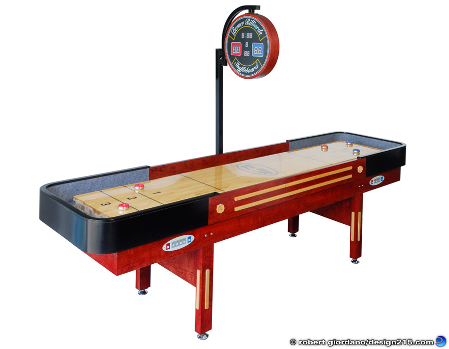 Berner Billiards Pro Shuffleboard Table - Product Photography