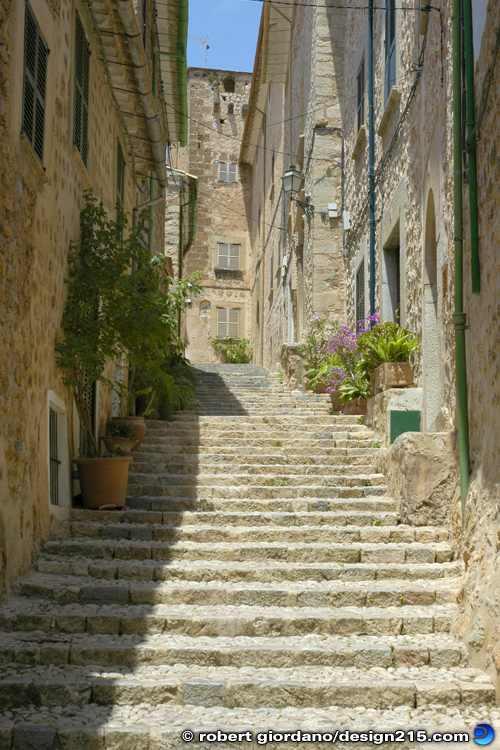 Travel Photography - A Street in Fornalutx, Majorca, photo by Robert Giordano