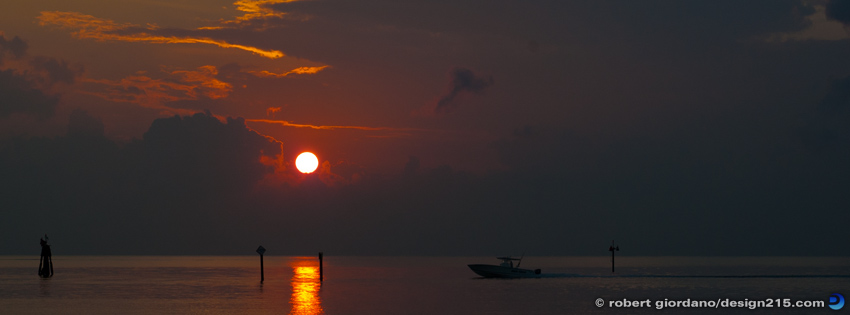 Free Facebook Cover Photos - Fishing Sunset, photo by Robert Giordano