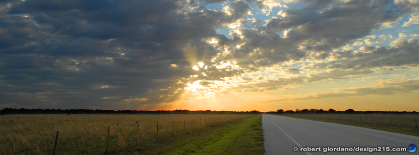 Free Facebook Cover Photos - Sunset Road, photo by Robert Giordano