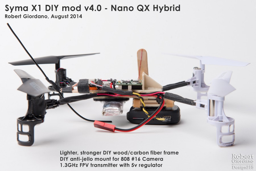 Syma X1 V4 Hybrid FPV Quadcopter - Multirotors