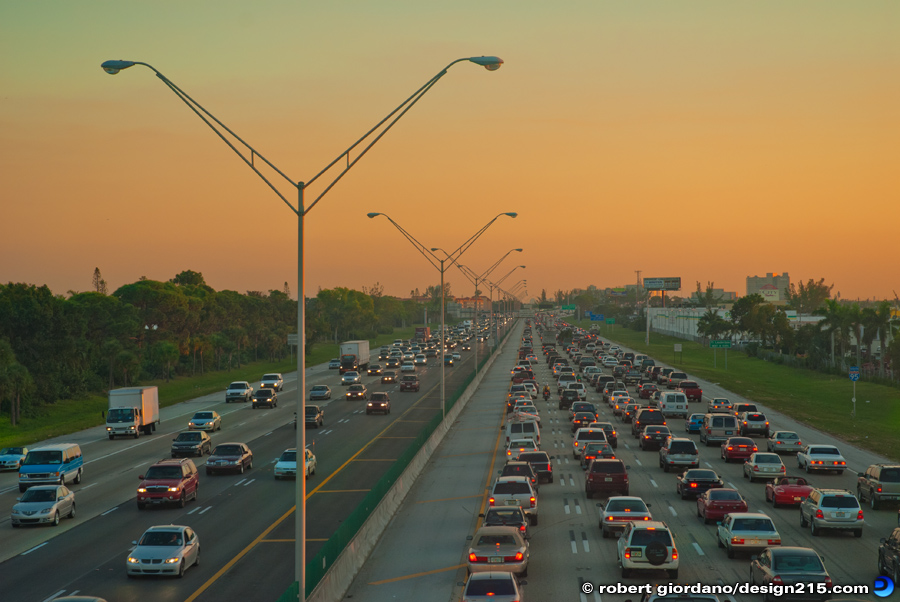 Conceptual Photography - Rush Hour Traffic