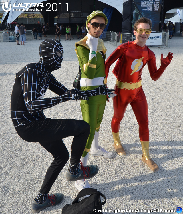 Superheroes at Ultra - 2011 Ultra Music Festival
