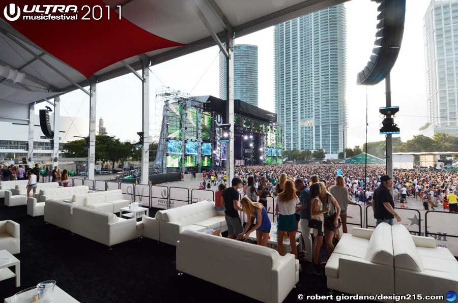 2011 Ultra Music Festival - VIP Tent, Day 1, photo by Robert Giordano