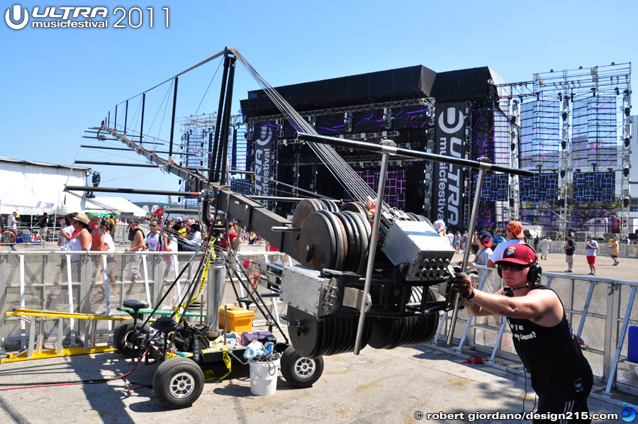 Camera Crane Operator - 2011 Ultra Music Festival