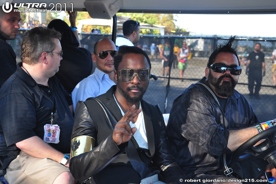 2011 Ultra Music Festival - Will I Am, Backstage, photo by Robert Giordano