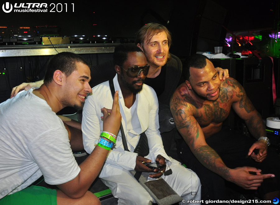 2011 Ultra Music Festival - Backstage with Dave Guetta, Day 3, photo by Robert Giordano