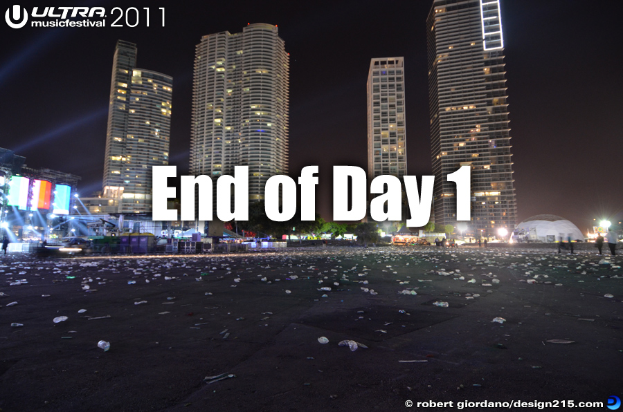End of Day 1 - 2011 Ultra Music Festival