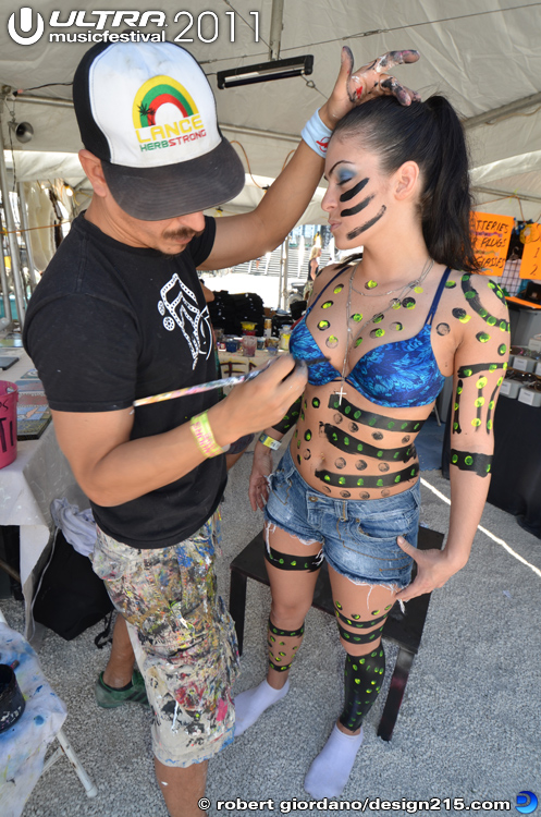Body Painting - 2011 Ultra Music Festival