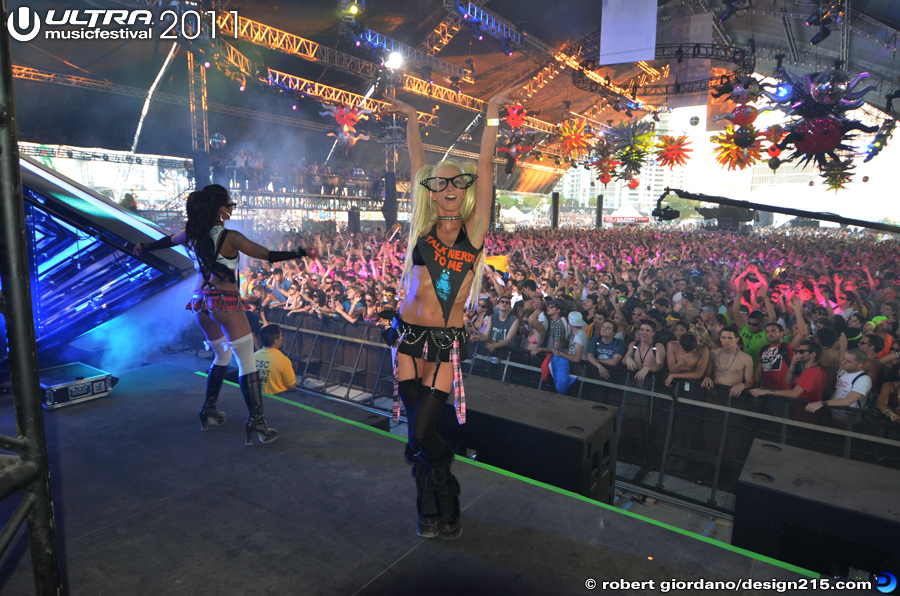 Dancers during Moby #2599 - 2011 Ultra Music Festival