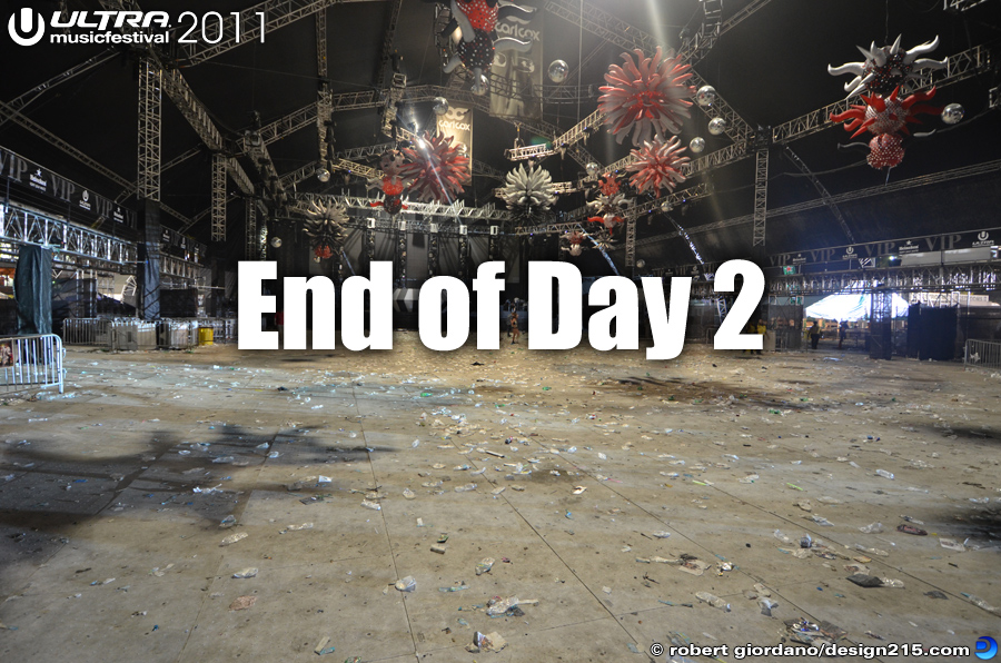 End of Day 2 - 2011 Ultra Music Festival