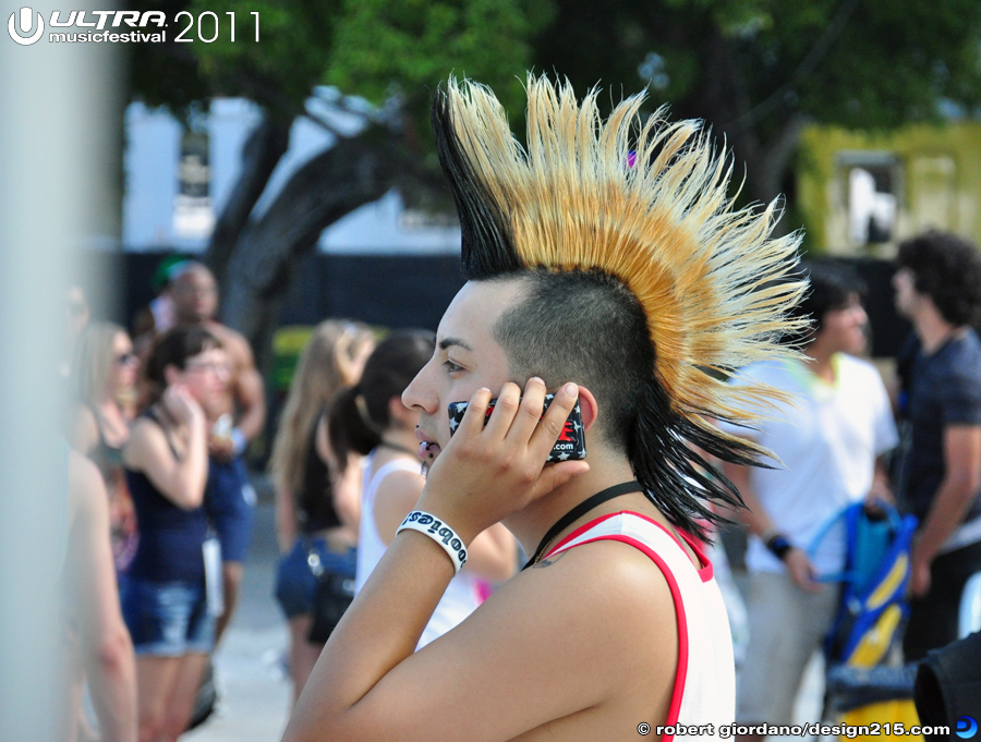 2011 Ultra Music Festival - Mohawk Guy, photo by Robert Giordano