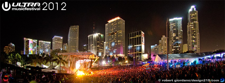 Free Facebook Cover Photos - 2012 Ultra Music Festival - Skyline, photo by Robert Giordano