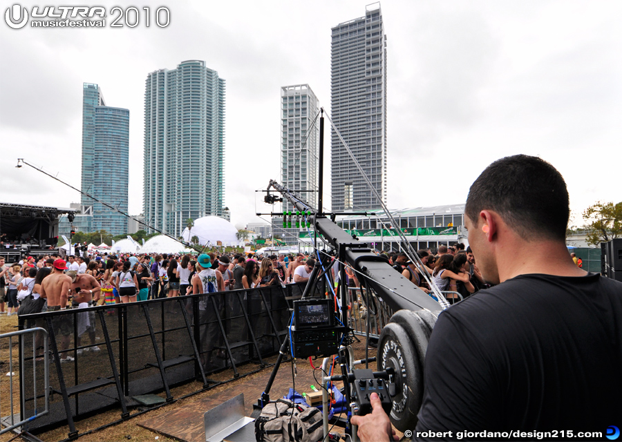 2010 Ultra Music Festival - Camera Jib Operator, Main Stage, photo by Robert Giordano