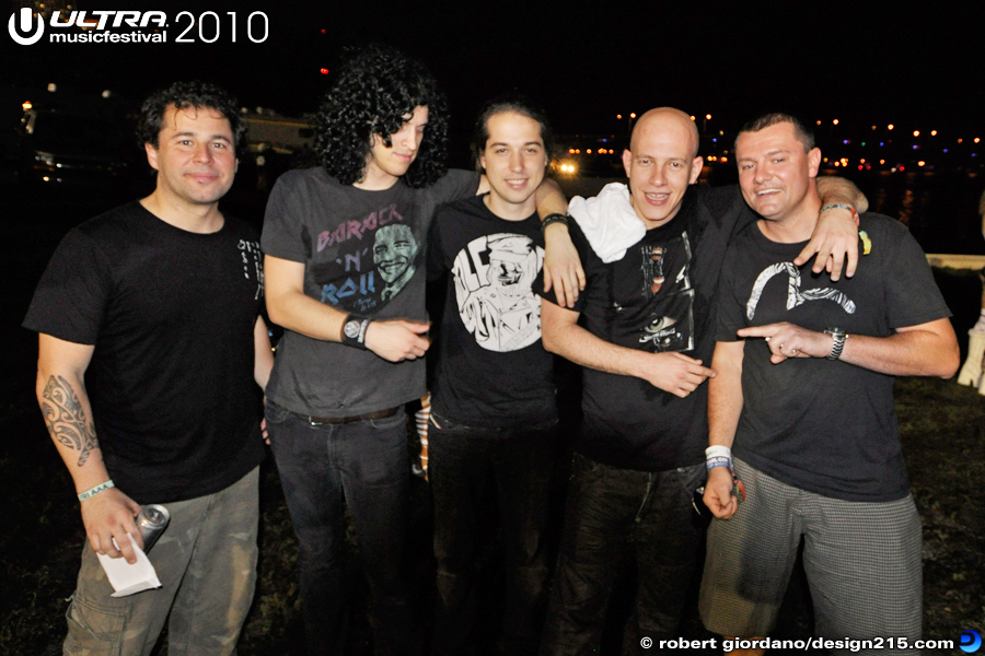 Infected Mushroom, Backstage - 2010 Ultra Music Festival