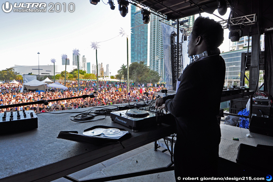 Benga on the Biscayne Stage, Day 2 - 2010 Ultra Music Festival