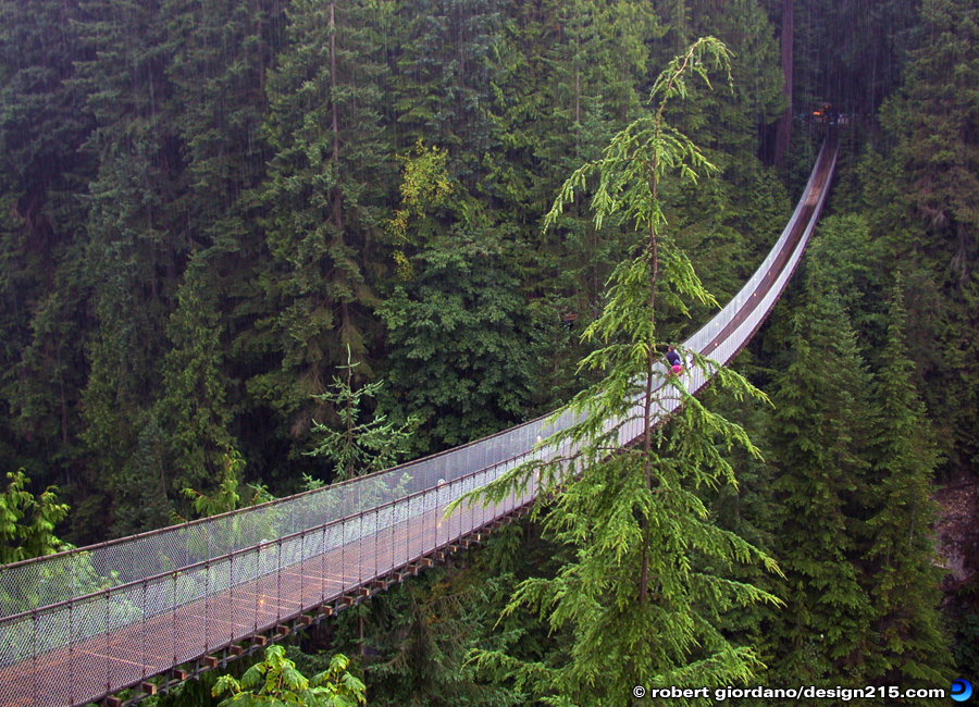 Travel Photography - Capilano Suspension Bridge, Vancouver BC, photo by Robert Giordano