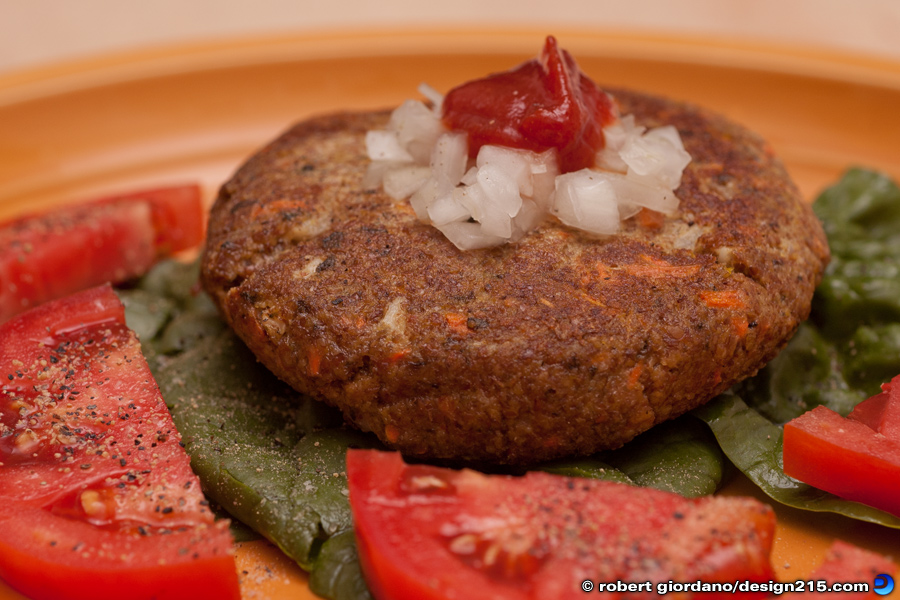 Food Photography - Veggie Burger, photo by Robert Giordano