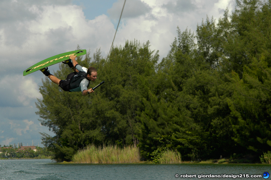 Action Photography - Wakeboarding with Dean Lavelle, photo by Robert Giordano