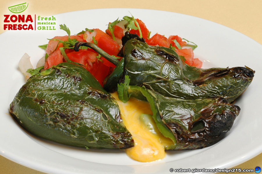 Food Photography - Chili Rellenos at Zona Fresca, photo by Robert Giordano