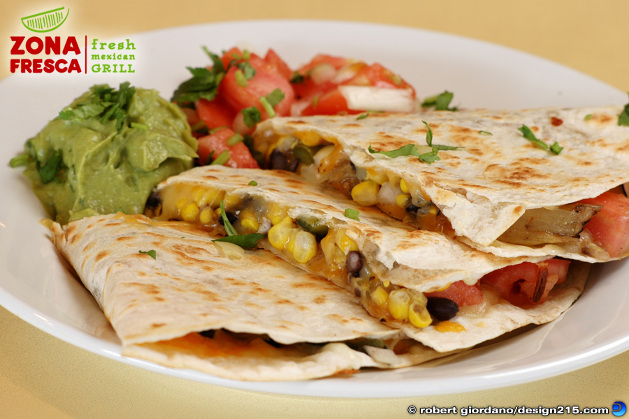 Food Photography - Quesadillas at Zona Fresca, photo by Robert Giordano